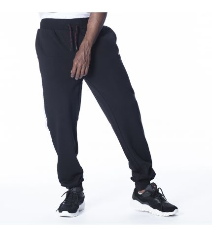 FILA TAPE JOG PANTS:BLACK/WHITE TAPE